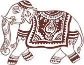 Indische inländische Elefanten design — Stockvektor