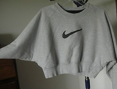Vintage Nike Cropped Batwing Arms SweatshirtSz Small In Clothing Shoes Accessories Womens Sweats Hoodies