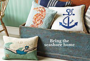 Come Sail Away: Coastal-Inspired Pillows & Throws