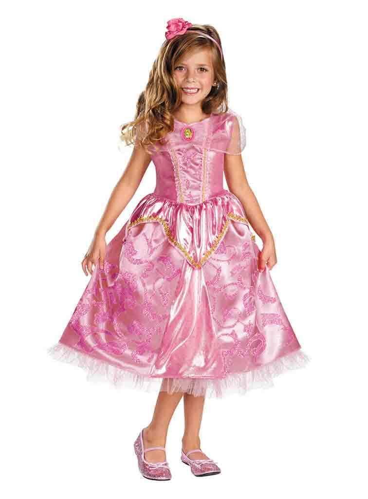 e1e3ecffd Image 0 of Deluxe Princess Aurora Pink Sparkle Girl Dress/Headpiece Costume  Disney/Disguise