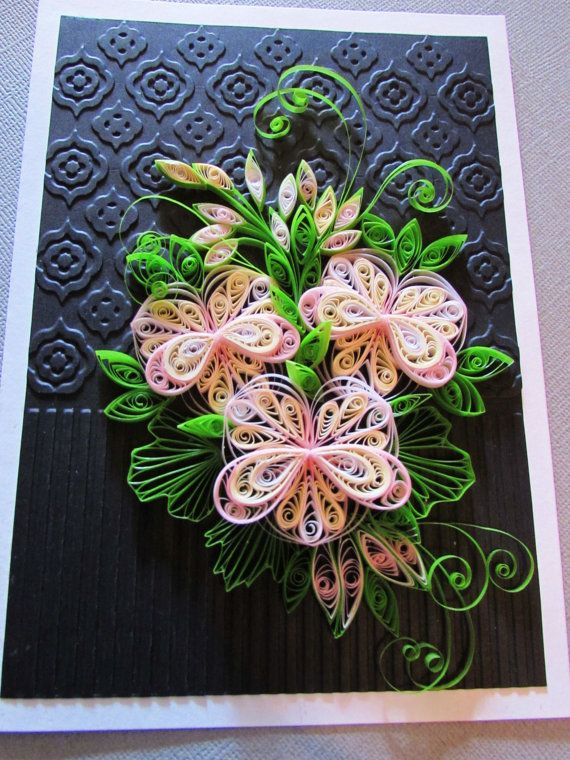 QUILLING ~ Unframed art in greeting card format by - greeting card format