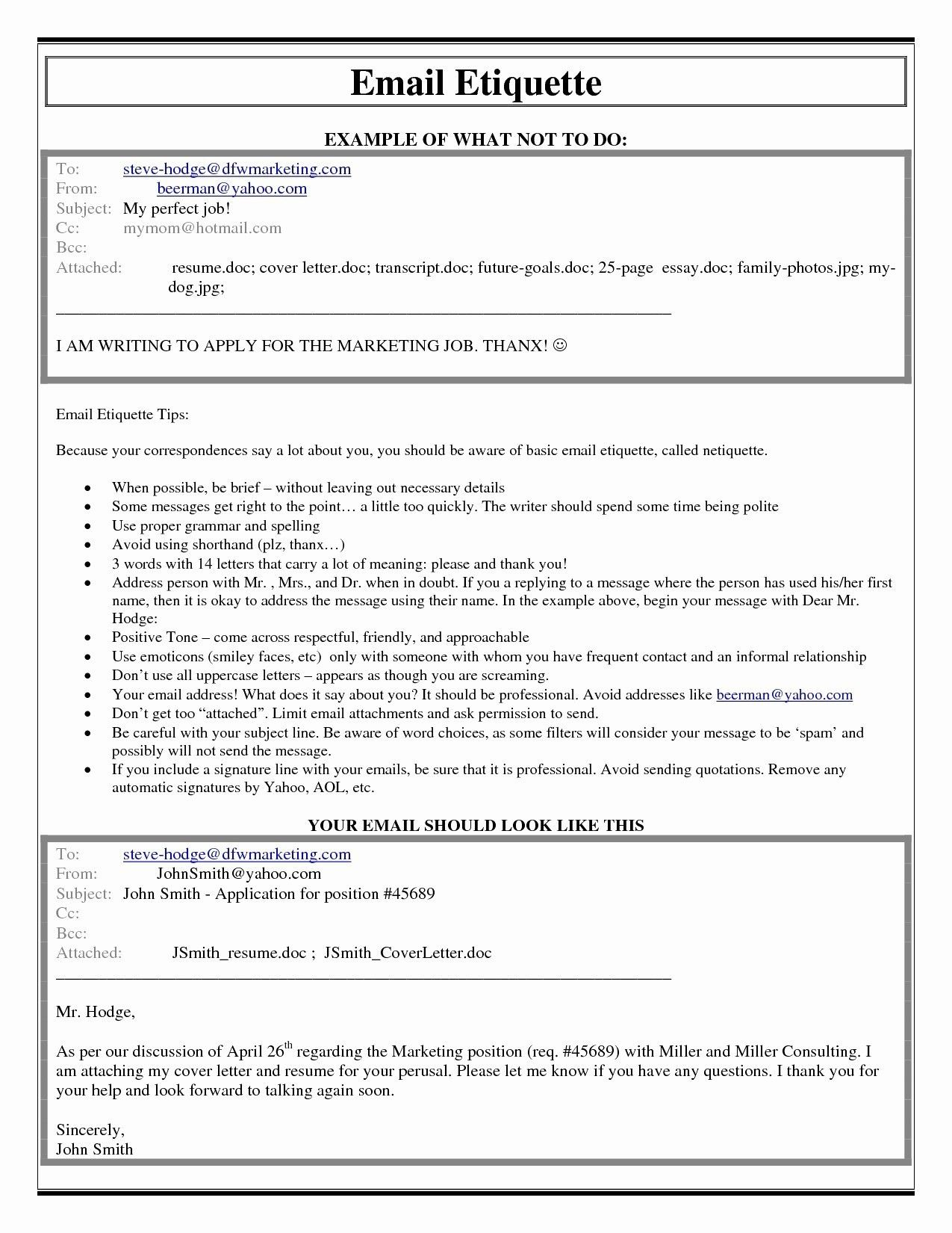 Download best of job application letter with resume
