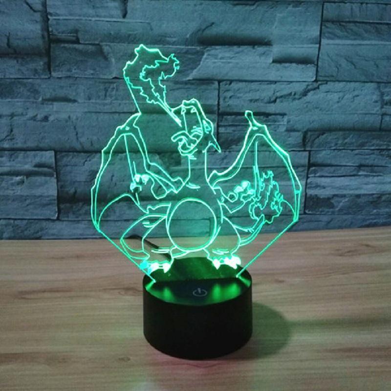 7 color change pokemon 3d led night light pokemon go mega