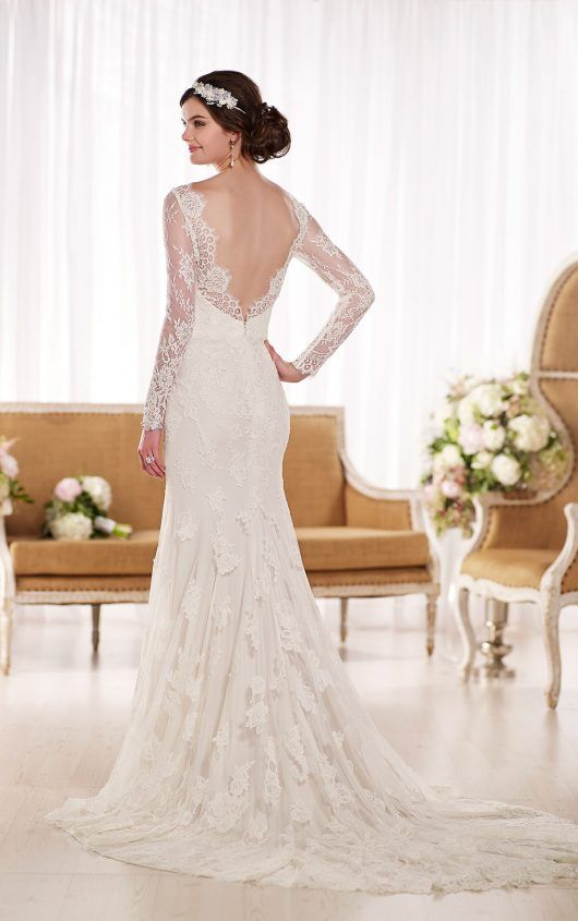 Y From Essense Of Australia Style D1745 Wedding With Sleeveslong