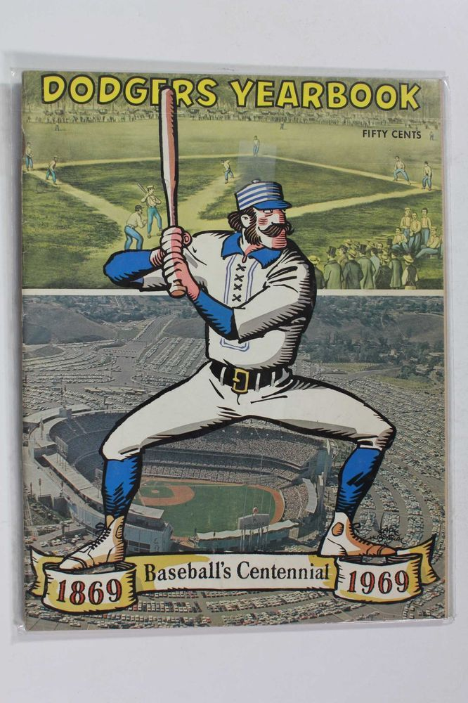 1969 Los Angeles Dodgers Yearbook Centennial Old Timer Cover Nice Los Angeles Dodgers Baseball Dodgers Baseball Los Angeles Dodgers