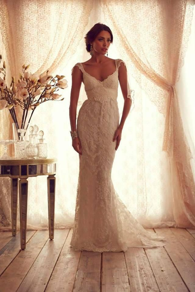 Cheap Mermaid Wedding Dress - Discount Neck Empire Sash Mermaid Sweep Train Lace Wedding Online with $204.12/Piece | DHgate