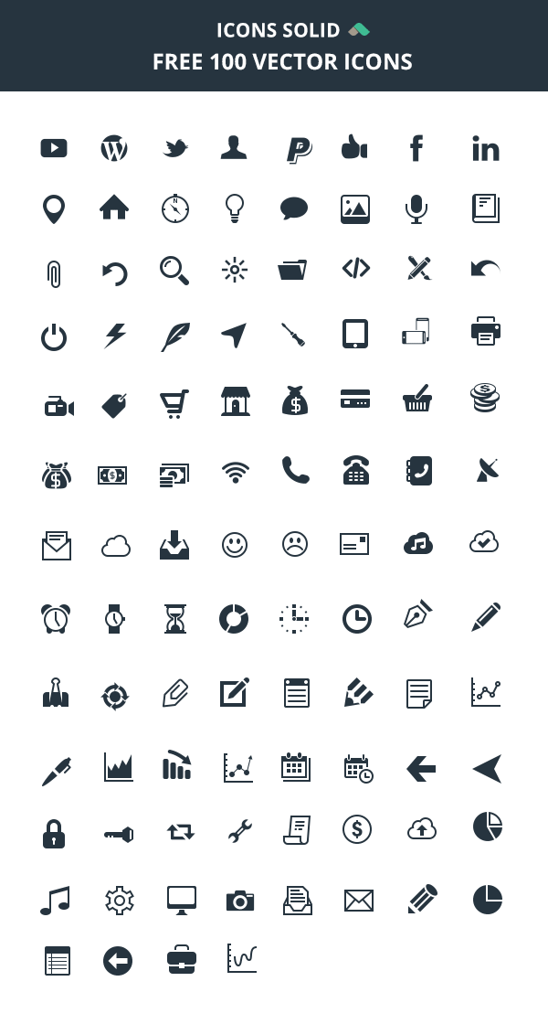 Icons Solid 100 Vector Icons Icon Set Design Icon Download Free Vector Icons