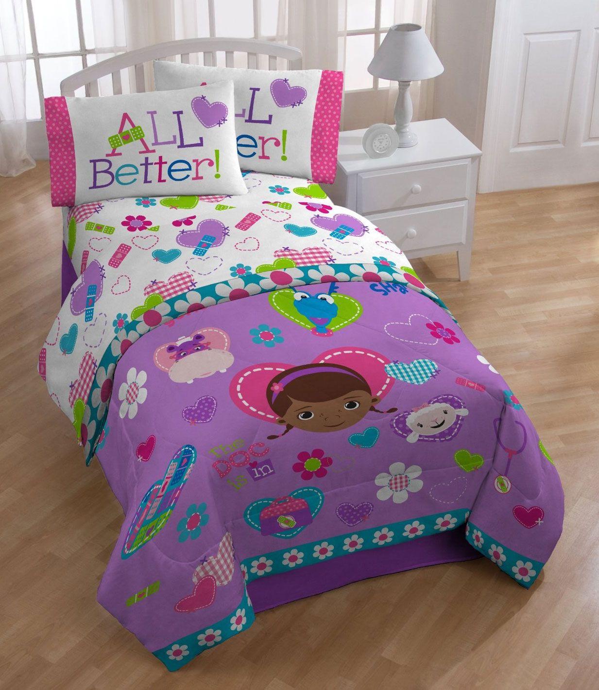 disney doc mcstuffins twin comforter  animal friends