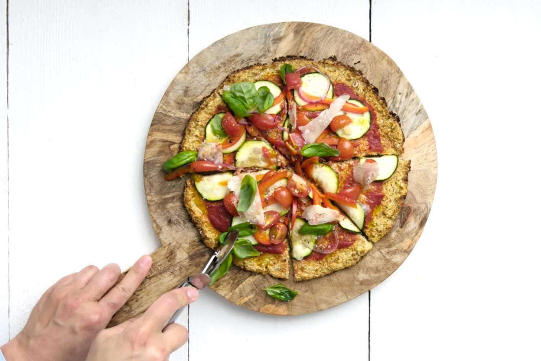 Pizza au chou-fleur (met afbeeldingen)