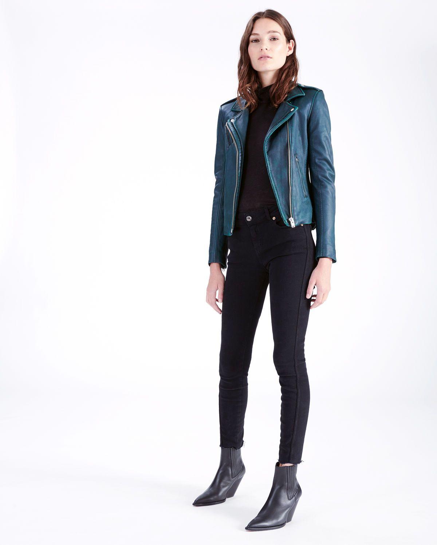 Iro Han Leather Jacket Dark Green Leather Jacket Outfits Iro Leather Jacket Jackets [ 1500 x 1200 Pixel ]