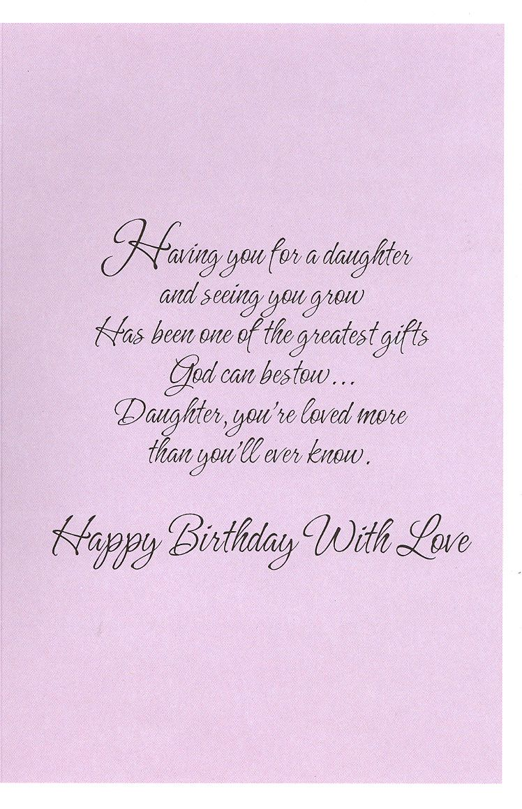 Christian Birthday Cards For Daughter Google Search Wisdom