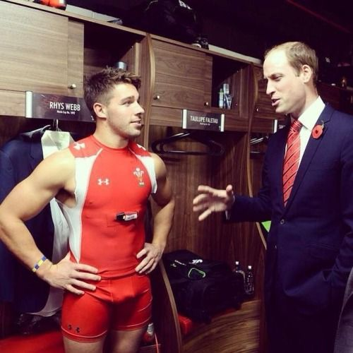 Rhys Webb And Prince William Rugby Men Pinterest