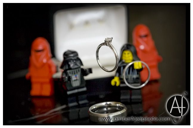 Star Wars wedding ring photo. Darth Vader using the force : Amber Ford Photography