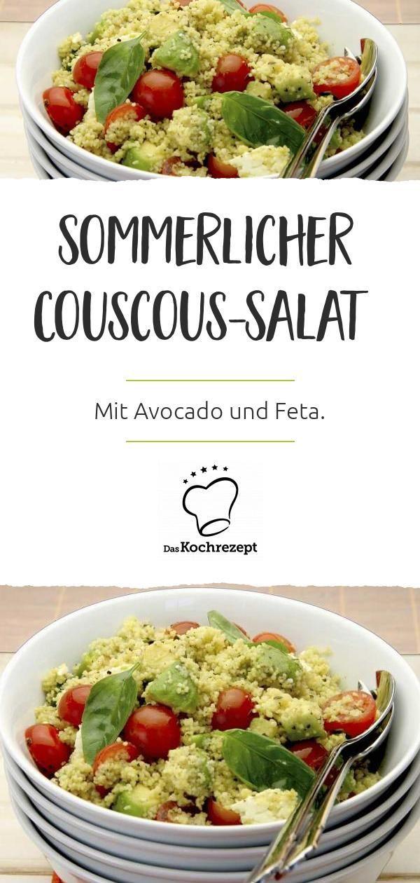 Couscous-Salat mit Avocado und Feta Gleich 3 Lieblingszutaten in einem Salat! Couscous, Avocado und