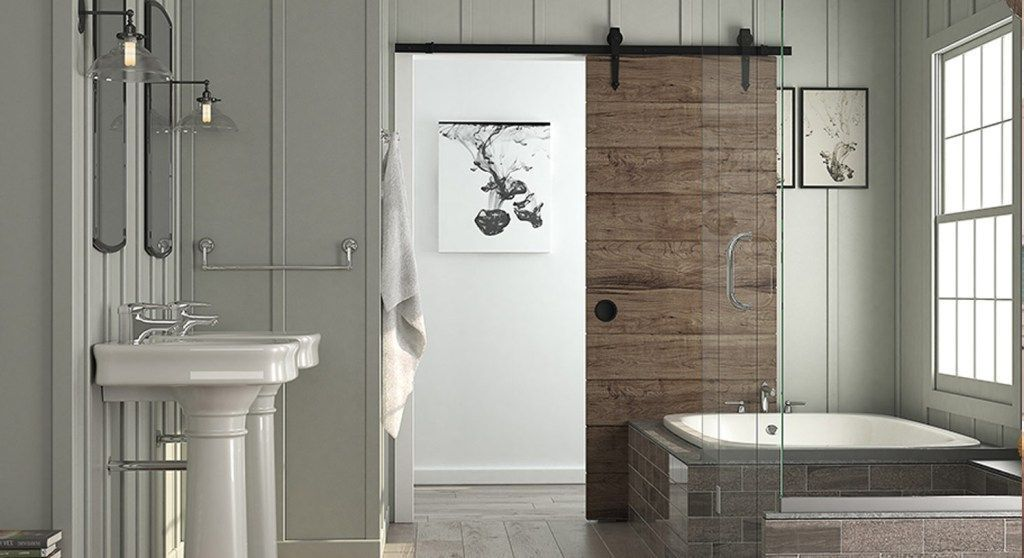 Peep Through The Bathroom Door. Barn Door For Bathroom Every Time We Peep A Barn Sliding Door At Inside Viewers Something Is Going To Crumble They Give A Beautiful Rustic Touch To Any