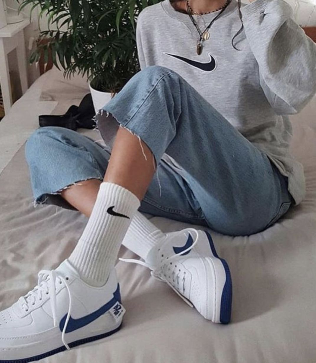 Nike Air | Fashion, Nike air force outfit, Sock outfits