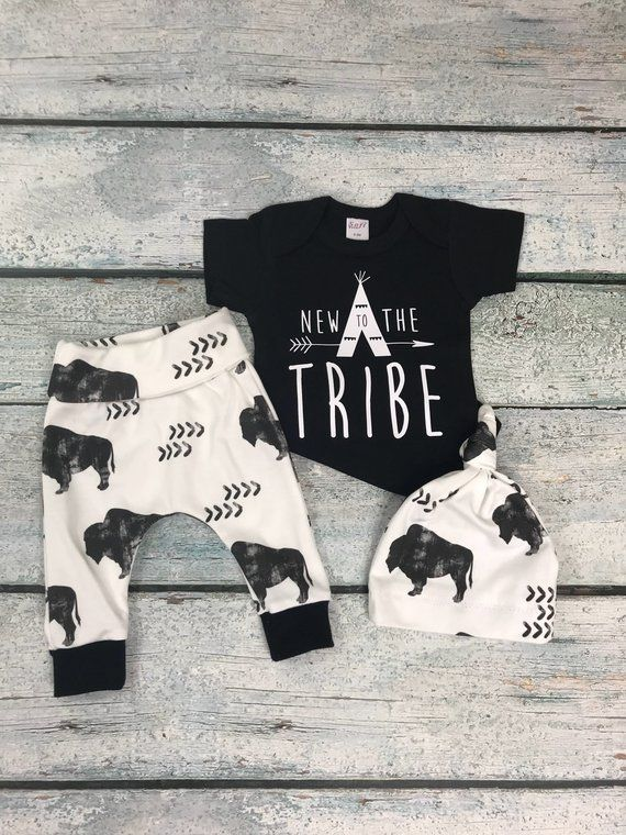 Photo of Newborn baby boy coming home outfit/baby boy/newborn set/New to the tribe set/baby shower