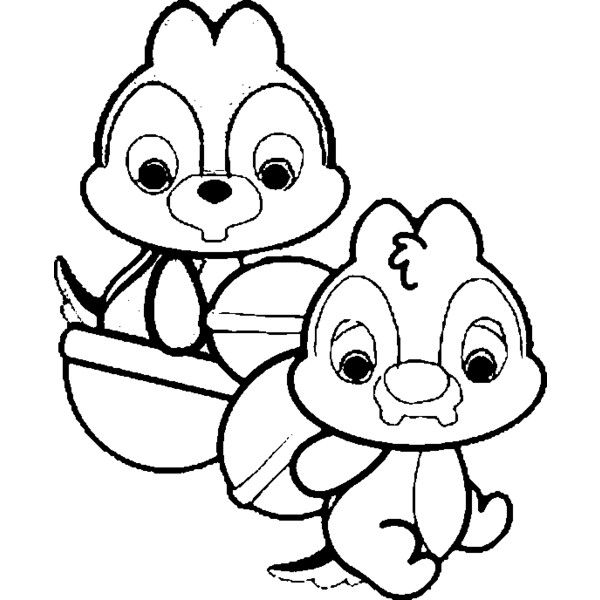 Cartoon Critters - disney cuties coloring pages ❤ liked on Polyvore ...