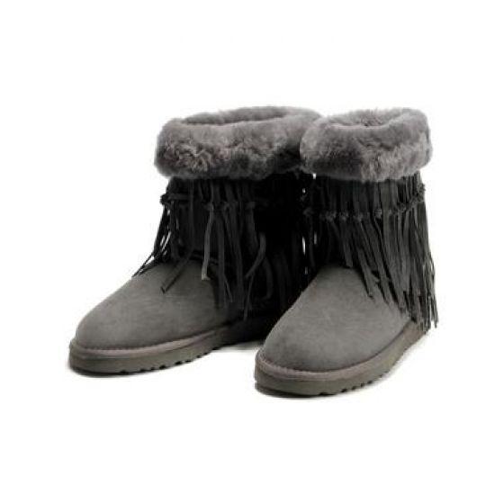 UGG Boots Tassel Shorts 5835-Grey [UGG Boots Tassel Shorts 5835-Gre]