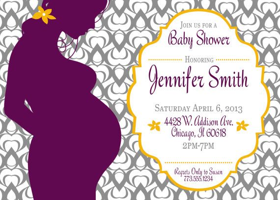 Baby shower invitations pregnant mom silhouette baby shower baby shower invitation with pregnant woman silhouette filmwisefo