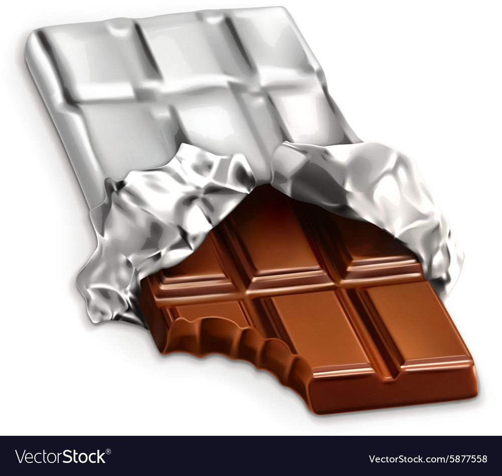 Chocolate Bar A Tasty Piece Of Chocolate I Vector Image On