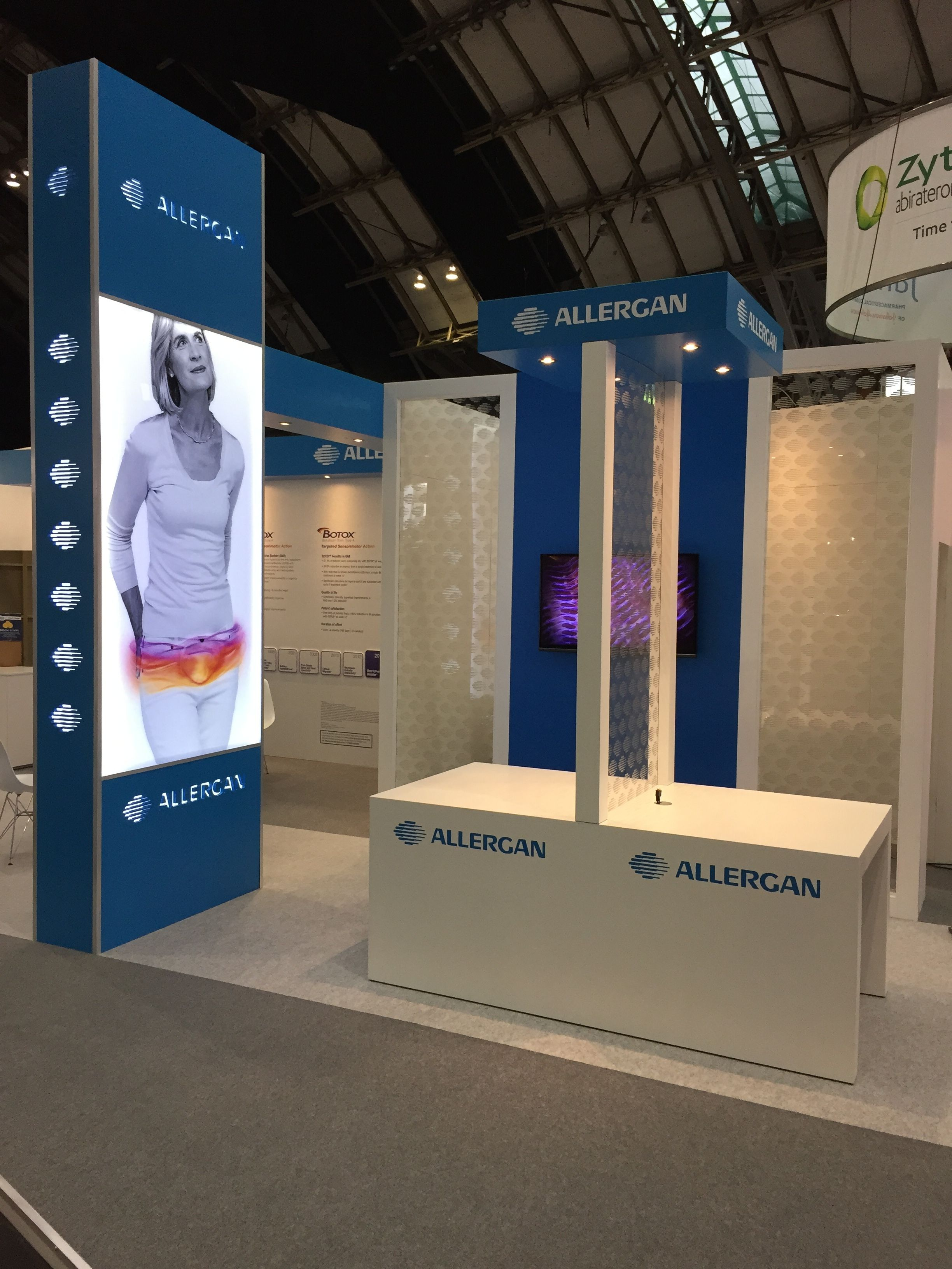 Exhibition Stand Raised Floor : Allergan botox s custom build exhibition stand space only