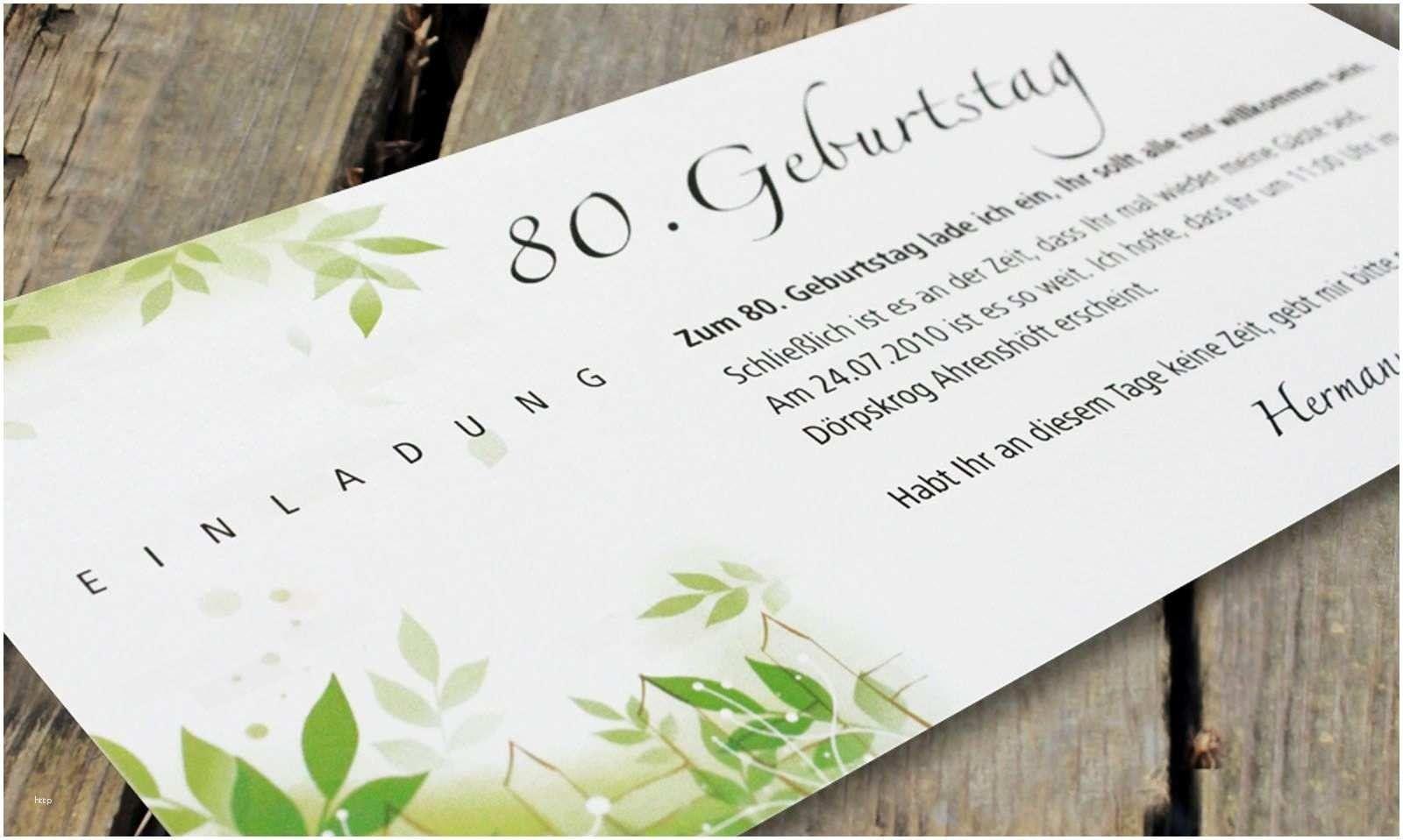 Einladungskarten Geburtstag Einladung Zum 80 Geburtstag