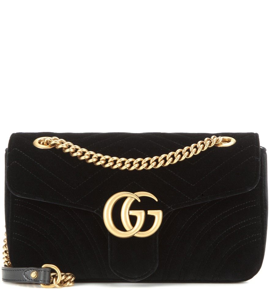 cab625647b78 Gucci - GG Marmont Small velvet shoulder bag - Gucci s GG Marmont shoulder  bag is crafted