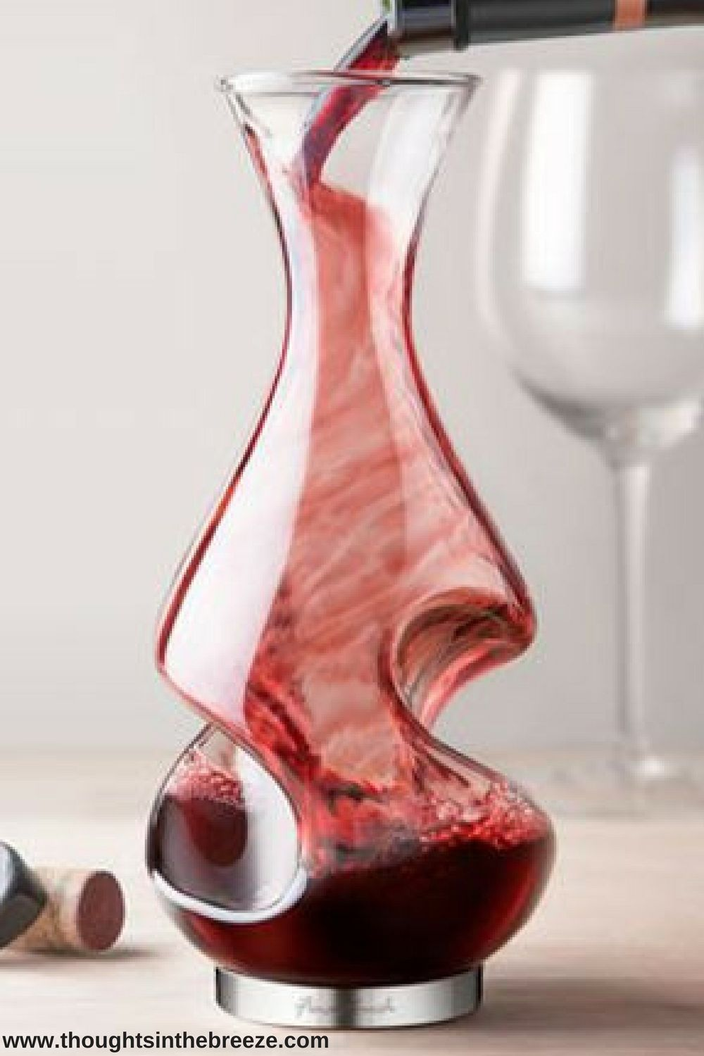 39 95 Modena Wine Aerator Make Wine Aeration And Oxygenation A Beautiful Process With This Modena Wine Aerator Wine Decanter Red Wine Decanter Wine Preserver
