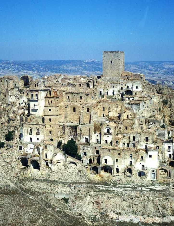Craco cidade fantasma da Itália