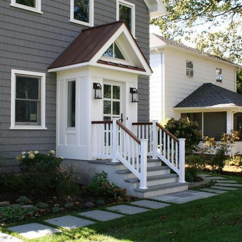 Slomin Residence Vestibule Addition House Exterior Enclosed Front Porches House With Porch
