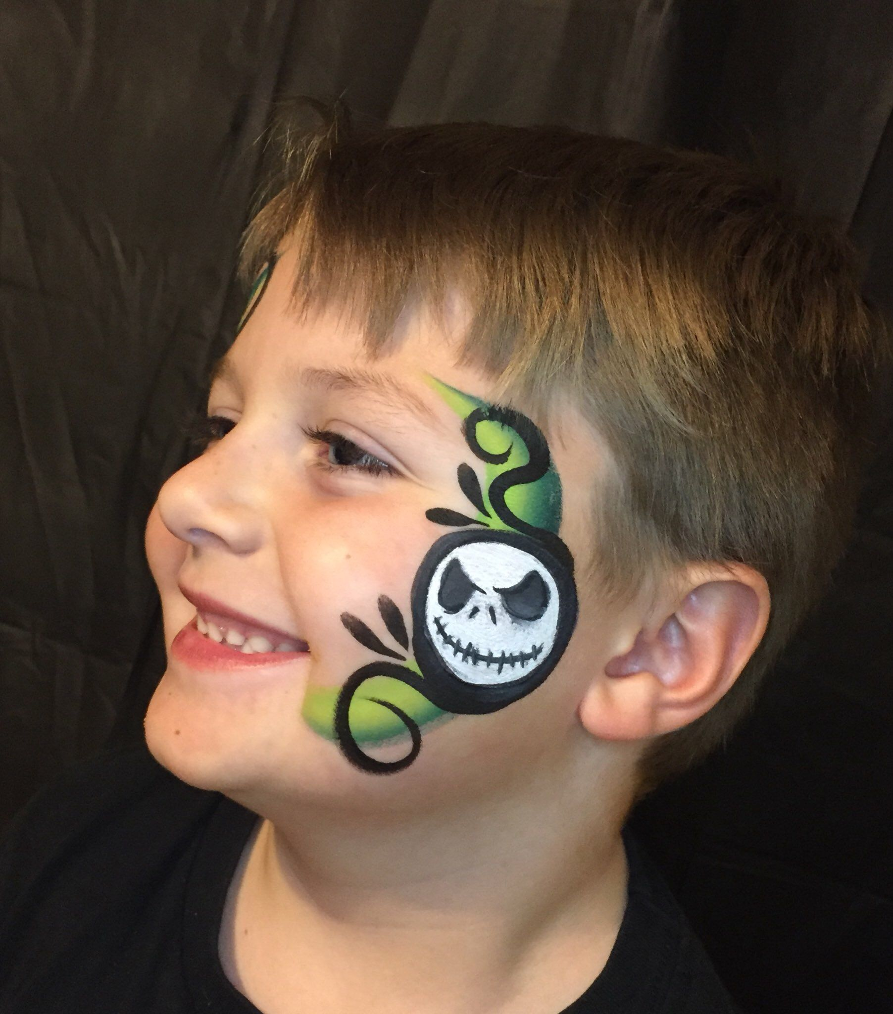 Jack Skellington facepaint creepy halloween facepaint