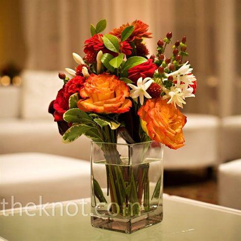 Fall Wedding Flower Arrangement
