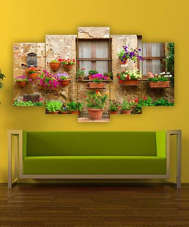 Look what I found on #zulily! Floral Planter Garden Five-Panel Wall ...
