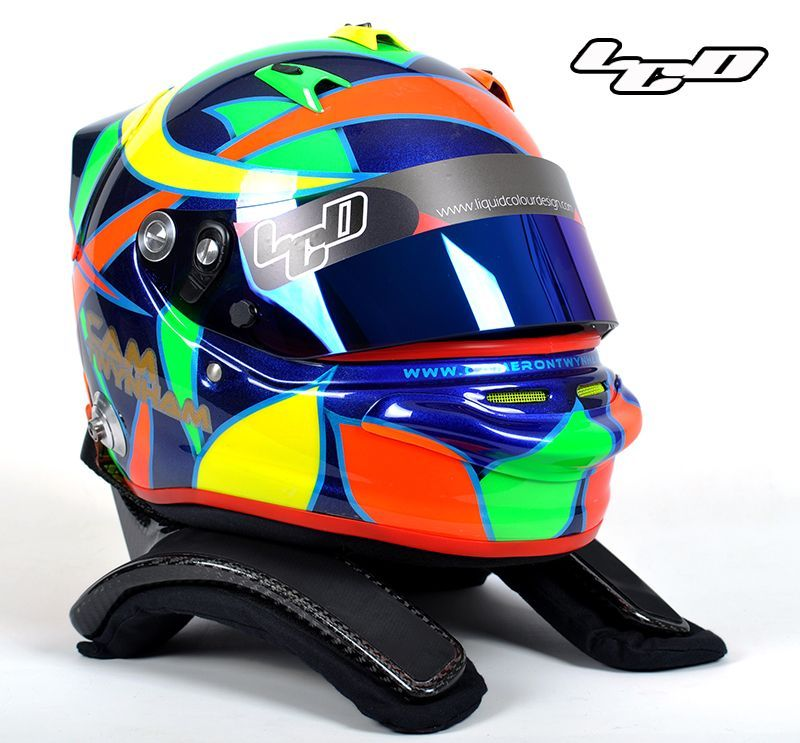 e7c8ff7432d4a Latest helmets from Liquid Colour Design Helmet Paint