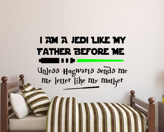 Wall Decals For All The Star Wars And Harry Potter Fans My Son Just Loves This Design I M Sure Yo Star Wars Baby Room Wall Decal Sticker Star Wars Wall Decal