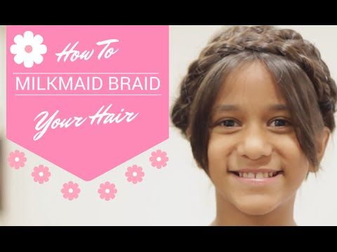 How to Milkmaid Braid your hair in 2 minutes! Super easy, super cute and super fun tutorial. Perfect for summer time!
