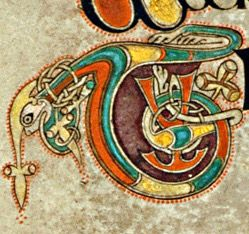 Book of Kells - initial letter T