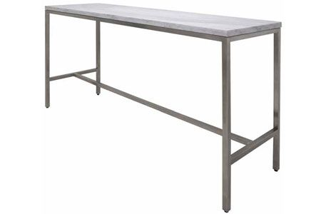 Marble And Stainless Steel Bar Height Table Also Available With Gl Top In 60 Length Counter