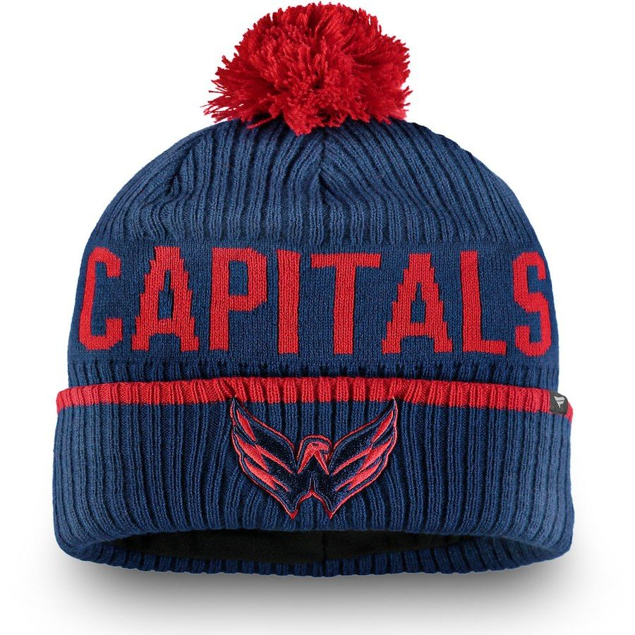 bb22c9824e0cd9 Men's Washington Capitals Fanatics Branded Navy Iconic Stroke Cuffed Knit  Hat with Pom, Your Price: $21.99