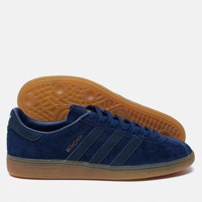 adidas Originals Munchen Dark Blue/Navy/Gum. Article: B5294. Year: