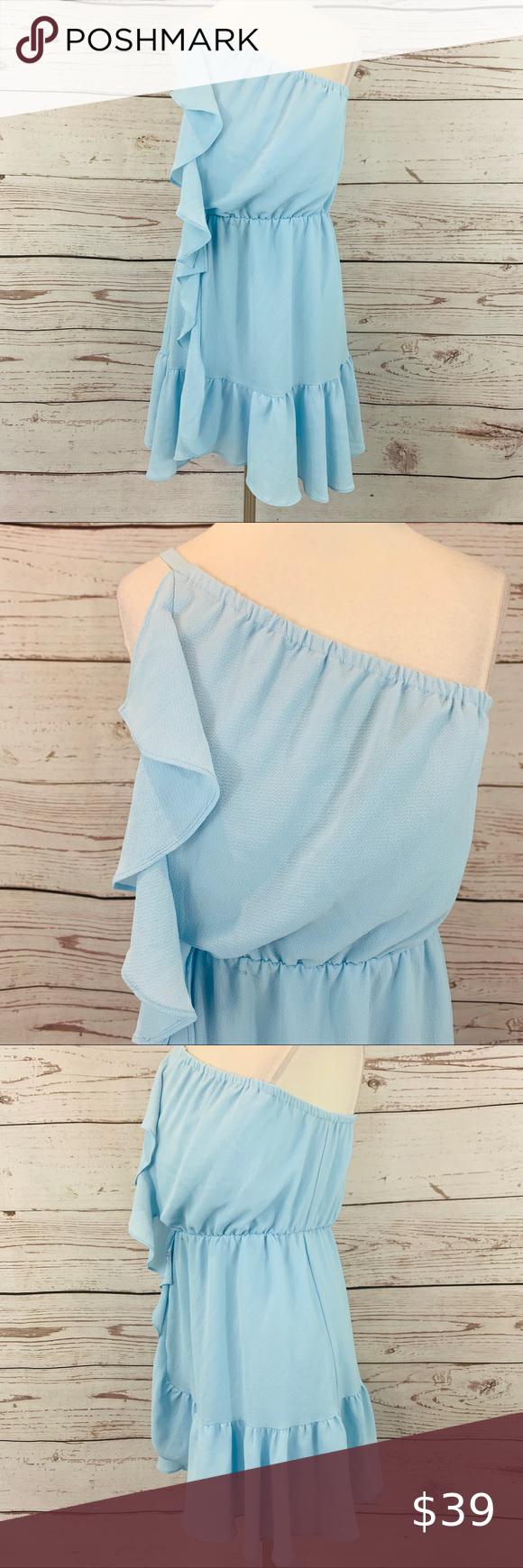 Kaari Blue Single Shoulder Light Blue Dress Summer Light Blue Dresses Fashion Clothes Design [ 1740 x 580 Pixel ]