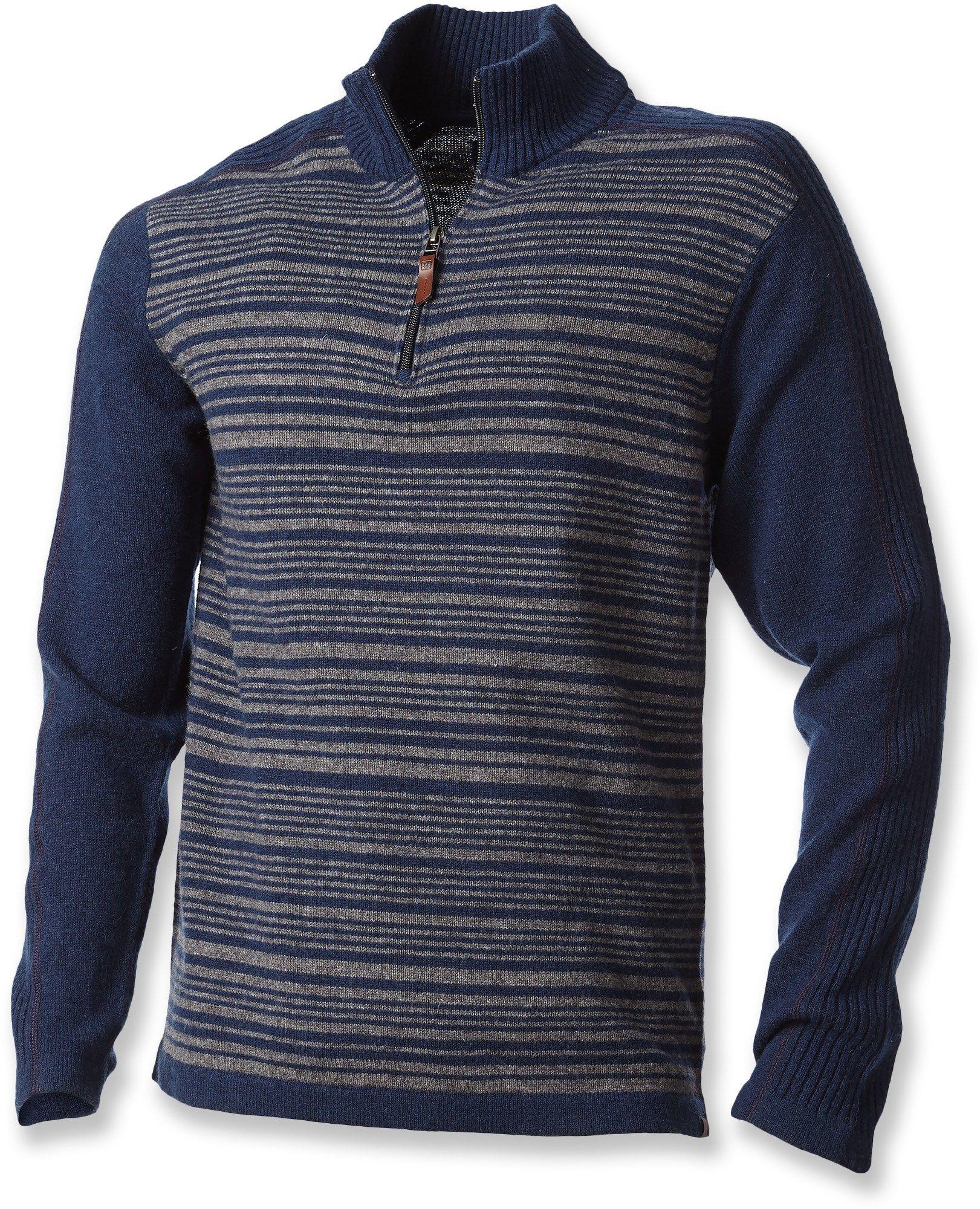 13aaf7982 Fireside Wool Stripe Quarter-Zip Pullover - Men's | *Apparel ...