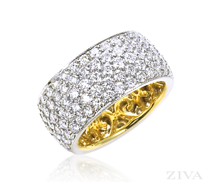 Wide Pave Diamond Eternity Band