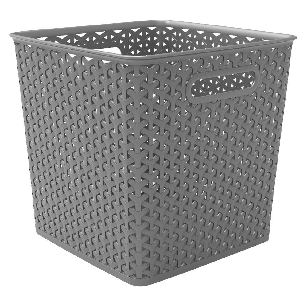 11 Y Weave Bin Gray Room Essentials In 2020 Room Essentials Organizing Linens Cube Storage Bins