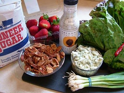 Strawberry Pecan Salad (Substitute Apples if strawberries are out of season)