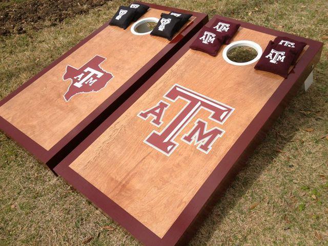 2 Texas A/&M Aggies Cornhole Wraps Pair of Board Decals FOOTBALL