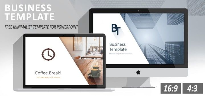 Free minimal business powerpoint template powerpoint for Minimalist powerpoint template free 2