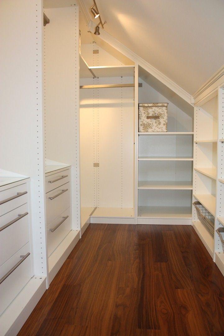 Guardaroba Mansarda Ikea Loft Room Master Bedroom Closet Slanted Ceiling Closet