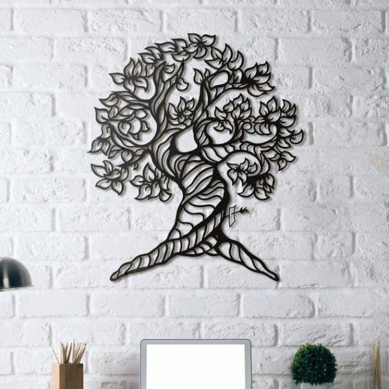 Un arbre unique et naturel en décoration murale métal disponible sur artwall and co décoration murale métal artwall and co pinterest cnc
